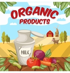 Farm organic vegetables background vector