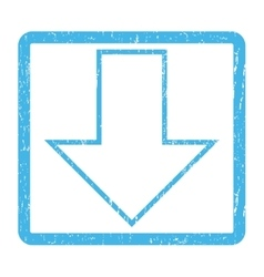 Arrow down icon rubber stamp vector
