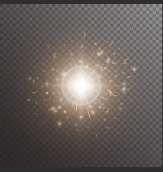 Bokeh background with shine light vector
