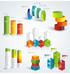 Rich set infographic design vector