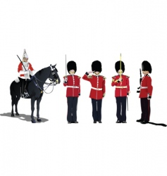 five guards vector image