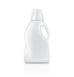 White bottle for liquid laundry detergent vector