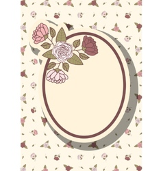 Retro frame with abstract flowers event design vector