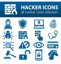 Hacker icons vector