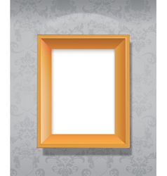 wooden picture vector image