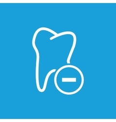 Remove tooth icon white vector