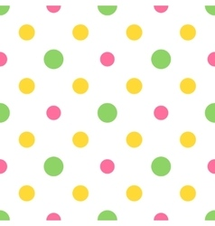 Seamless colorful polka pattern for easter eggs vector