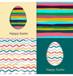 Easter cards easter eggs vector