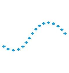 Dotted function line toolbar icon vector