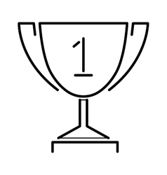 Trophy gold award cup flat icon vector