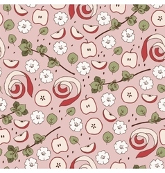 Seamless apple pattern vector