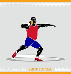 Athlete shot putter vector