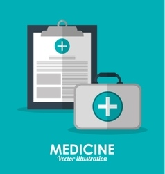 Medical history icon medical and health care vector