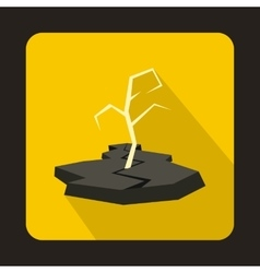 Drought icon in flat style vector