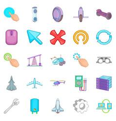 advanced technologies icons set cartoon style vector image