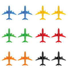 airplane in different color vector image