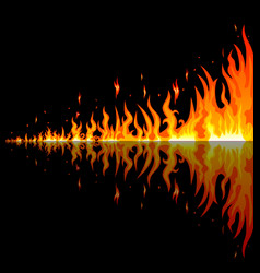 burning flames vector image vector image