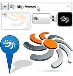 Business sun abstract logo design vector