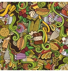 Cartoon hand-drawn doodles on the subject of fast vector image vector image