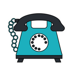 Color image cartoon silhouette retro telephone vector