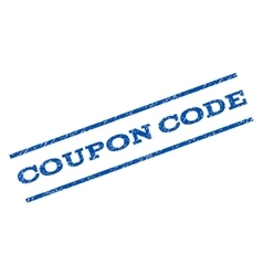 Coupon code watermark stamp vector