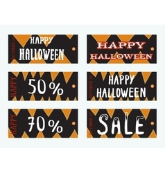 Cute and scary card templates vector