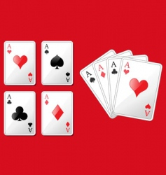 four aces vector image vector image