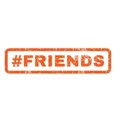 Hashtag friends rubber stamp vector