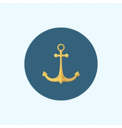Icon with colored anchor vector image