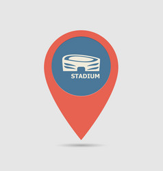 Map pin arena vector