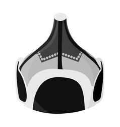 mongolian military helmetcolored metal helmet vector image