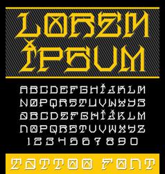 New school tattoo font vector