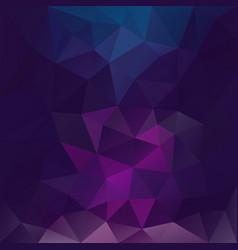 polygonal square background blue violet vector image vector image