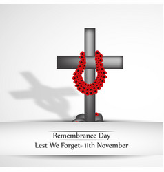 Remembrance day background vector