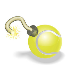 Tennis ball bomb concept vector