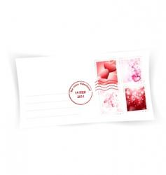 valentine day envelope vector image vector image