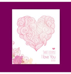 Valentines day background Invitation card vector image