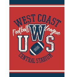West coast football league jersey poster vector