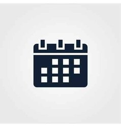 Calendar icon simple vector