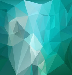 Blue green turquoise polygon triangular pattern vector