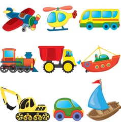 Transport toys vector image