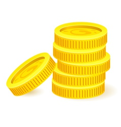 Gold coins vector