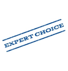 Expert choice watermark stamp vector