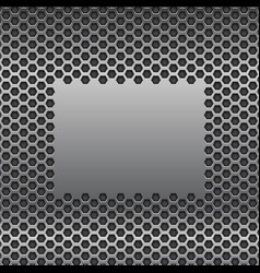Metal perforated background with plain brushed vector