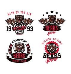 a collection of designs for printing on t-shirts vector image