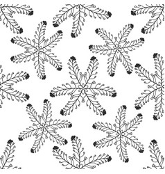 hand drawn seamless pattern marine tropical vector image