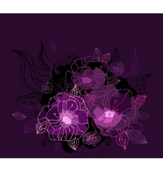 Beautiful purple peony hand drawn vector