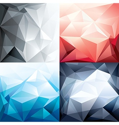Abstract trendy polygon shape background vector