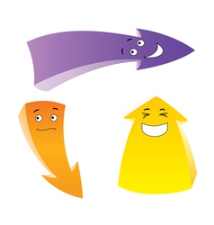 Emotion arrows set vector