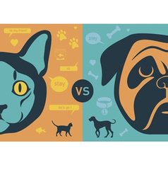 Cat vs dog infographics vector